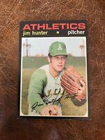"""1971 TOPPS #45 JIM """"CATFISH"""" HUNTER HOF OAK A's— POPULAR ISSUE💥*** (wph)"""