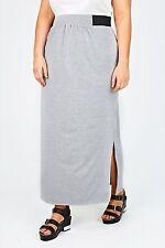 Full Length Polyester Patternless Maxi Skirts for Women