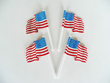 American Flag Cupcake Picks Cake Toppers Decorations 4th of July Patriotic USA