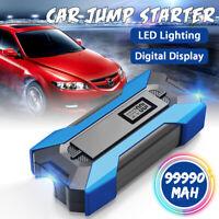 99990mAh 12V Arrancador Coche Emergencia Cargador De Batería Jump Starter