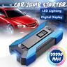 99990mAh 12V Arrancador Coche Emergencia Cargador De Batería Jump Starter Azul