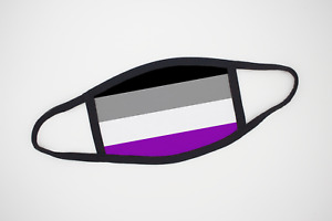 Asexual Pride Flag Face Mask LGBT 100% Polyester Layered Mask Face Cover