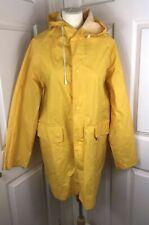 Yellow Rubber Pvc Fisherman Style Waterproof Coat Sploshing Hood