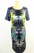 SELECTION BY S.OLIVER Kleid Blumenprint Glanz Gr. 38 (BF121)