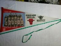 1988-89 -NBA - Chicago Bulls  - Vintage Pennant Collectible 30 inch