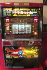 "RARE NET CASINO TOKEN SLOT MACHINE 7 VS DOLLARS JAPAN 36"" LIGHTED & SOUNDS"