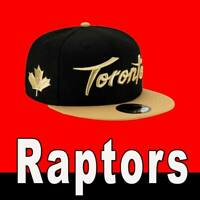 TORONTO RAPTORS NEW ERA NBA CITY SERIES 9FIFTY SNAPBACK CAP BLACK GOLD HAT