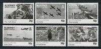 Alderney 2010 MNH WWII WW2 Battle of Britain 6v Set Spitfire Aviation Stamps