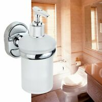 150ml Wall Mounted Frosted Glass Soap Dispenser Holder Shampoo Bottle Portable