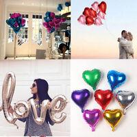 Lot 5PCS Colorful Heart Shape Wedding Birthday Party Decor Helium Foil Balloons