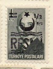 Turkey 1955-56 Optd Resmi Star Crescent Fine Mint Hinged 1/2k. Surcharged 085995