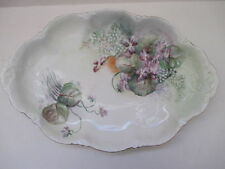RC Versailles Bavaria Hand Painted Flower Platter Dish Scalloped Pattern 12 1/2""
