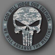 Punisher Camo Army Military Die Cut Decal Sticker Car Truck 4