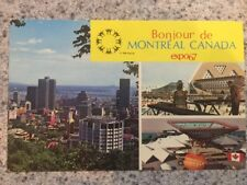 POSTCARD USED CANADA, QUEBEC, MONTREAL EXPO '67=BONJOUR de MONTREAL CANADA