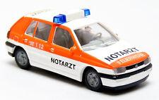Wiking 07101 VW Golf 3 III Feuerwehr weiß rot neutral Notarzt NAW NEF 1:87 H0