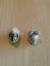 2 Vintage Sea Shell Figures - Mouse and Rabbit