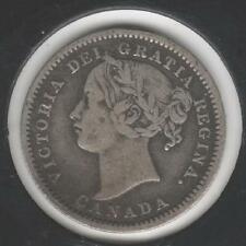 """1899, small """"9's,"""" FINE Canadian Ten Cents #1"""
