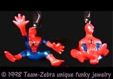 Funky SPIDERMAN EARRINGS Spider-man Comic Figure Novelty Charm Costume Jewelry-E