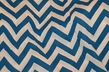 Room Essentials Blue & White Chevron Shower Curtain  Brand New