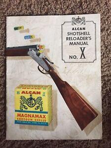 1961 Alcan Shotshell Reloader's Manual Catalog Shot Gun Shell No. X NICE