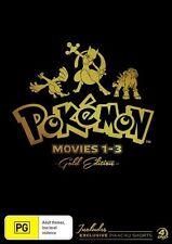 Pokemon: Movies 1 - 3 (Gold Edition) NEW R4 DVD