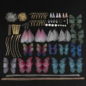 Earrings Jewelry Making Kit Handmade Colorful Butterfly Wing DIY Crafts Supplies