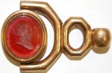 Watch chain fob- intaglio seal of Shakespeare - 19th Century