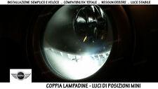 """COPPIA LAMPADINE LED BIANCO GHIACCIO POSIZIONI """"MINI COOPER R50"""" 100% NO ERRORI"""