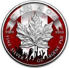 2019 1 Oz Silver Canada $5 PATRIOTIC MAPLE LEAF Coin..