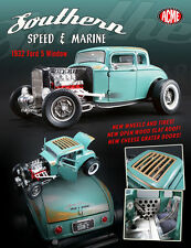 ACME 1:18 SOUTHERN SPEED & MARINE 1932 FORD 5 WINDOW DIECAST CAR A1805012