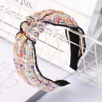Hairband Fabric Knot Chic Tie Accessories Bands Hair Headband Women's Hoop Cross
