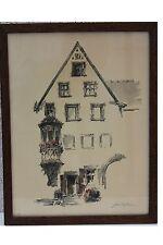 ROBERT KUVEN (1901-1983) - Ortsansicht AMMERSCHWIHR ALSACE Lithographie (17)