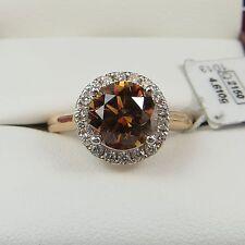 18 Carat Solitaire Round Rose Gold Fine Diamond Rings