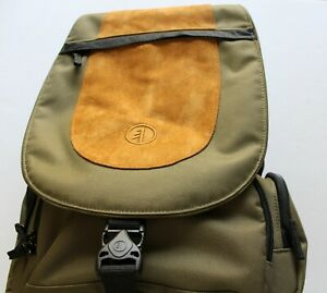 Tamrac Photography Backpack Camera Photo Equipment Bag Green Brown Suede