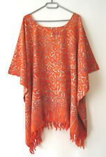 PREM Tunika Bluse Blickdicht Orange Rot 2XL 3XL 4XL 52 54 56 58 60 (G555)