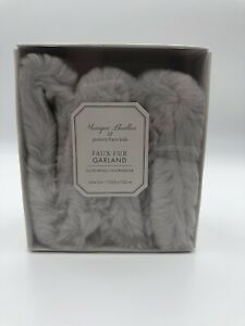 Pottery Barn Garland Faux Fur Gray 60 x 13 in New in Box