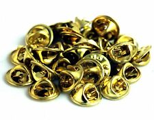 Pin Back Clasp for lapel pins, chenille pins, military pins, 25 pack Gold