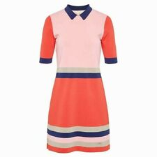 NEW + TAGS * TED BAKER * SUMMER COLOURS 'ORIGAMI' JERSEY DRESS SIZE 10 RRP £129