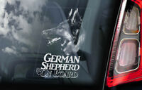 German Shepherd - Car Window Sticker - Alsatian Dog on Board Sign GSD Decal -V10