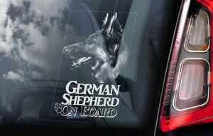 GERMAN SHEPHERD Car Sticker, Alsatian Dog Window Sign GSD Bumper Decal Gift -V10