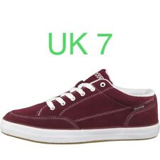 DuFFS Mens Suede Strombolie Burgundy Skate Shoes UK 7 Skater Board Trainers Duff