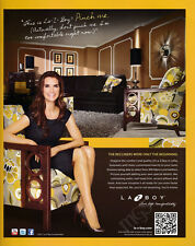 Brooke Shields 1-page clipping 2012 ad for La-Z-Boy