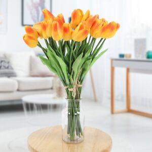 30Pcs Artificial Fake Tulip Flower Gift Wedding Party Home Office Garden Decor