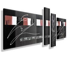 Leinwand Bild ORIGINAL modern Abstrakt Bild HANDGEMALT XXL Bilder Acryl grau rot