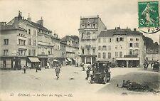 Early Auto, La Place des Vosges, Epinal, France 1913