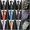 Mens Classic 100% Silk Paisley Floral JACQUARD WOVEN Necktie Wedding Ties New