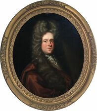 Portrait of a Gentleman Antique Oil Painting Sir Godfrey Kneller (1646-1723)