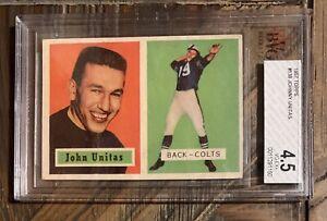1957 Topps #138 Johnny Unitas RC, BVG 4.5 VG-EX+ BGS Beckett