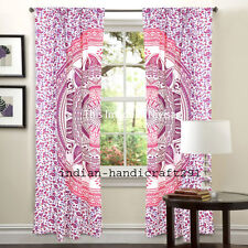 Mandala Blackout Indian Solid Window Curtain Living Room Treatment Drape Panel