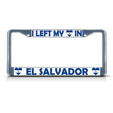 Chrome METAL License Plate Frame Made In El Salvador Auto Accessory 1238